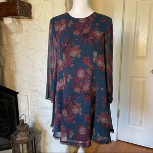 Kimchi Blue Urban Outfitters Floral Swing Dress XS